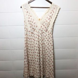 Anthropologie Maeve Cream Floral Dress